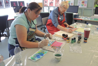 iron fix silk painting class